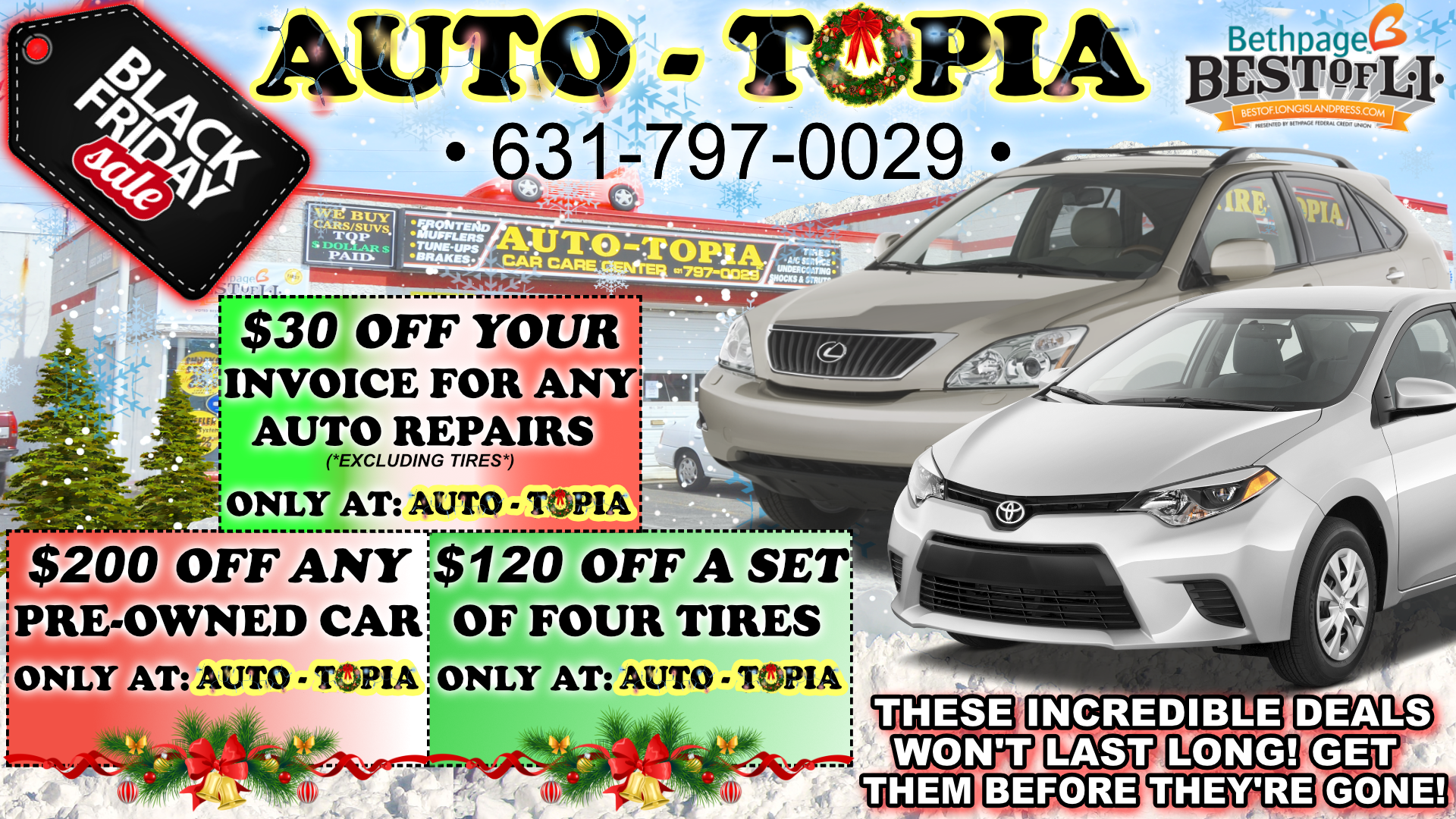 AUTO-TOPIA BLACK FRIDAY AD