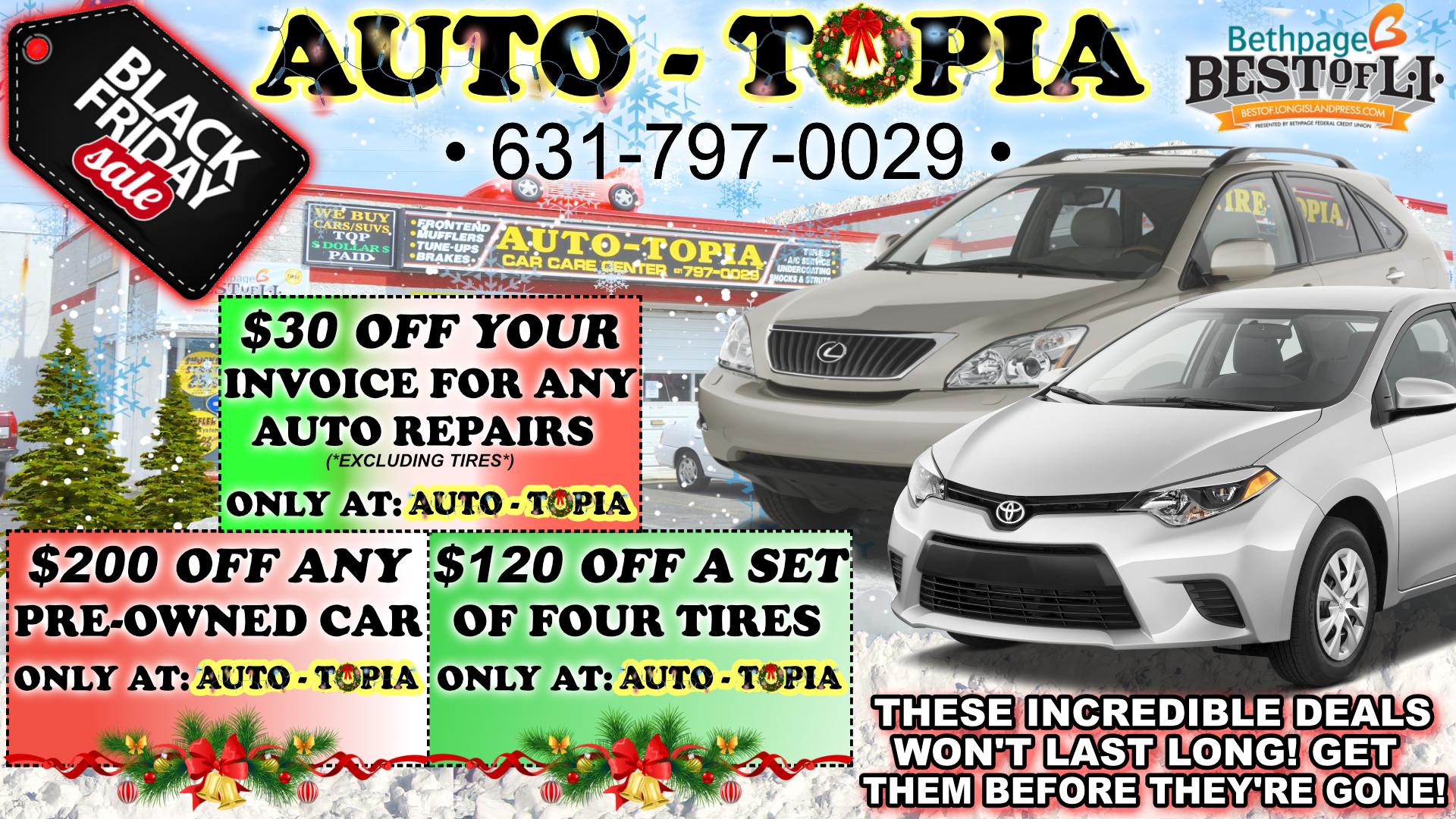 AUTO-TOPIA BLACK FRIDAY AD